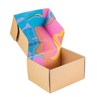 Corrugated color box