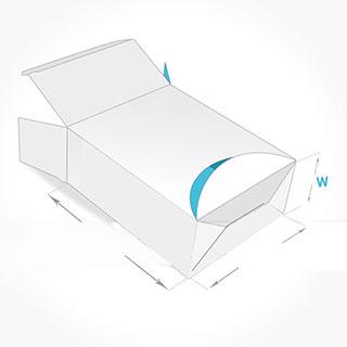 Tuck end dispenser box