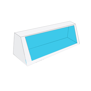Car toy boxes with window