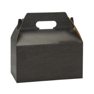 Cardboard black gable box