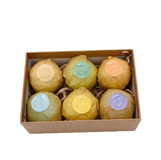 Kraft bath bomb packaging