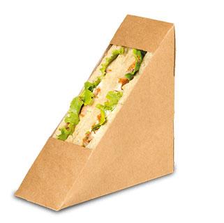 kraft sandwich box with window