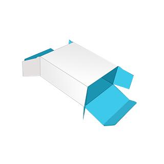 Straight tuck end box