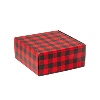 Christmas buffalo plaid boxes