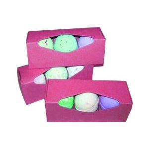 Pink bath bomb box