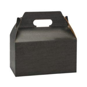 Cardboard black gable box