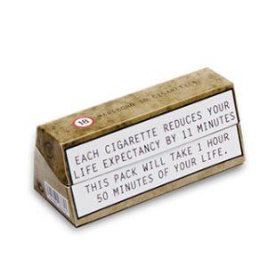 Custom die-cut cigarette box