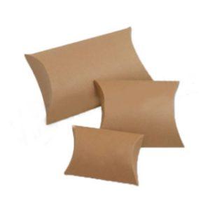 Non-printed kraft pillow boxes