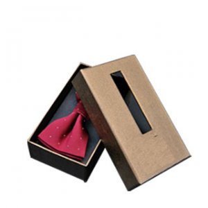 15 Bow tie paper packaging box with window