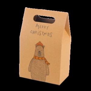 Kraft Christmas gable bag