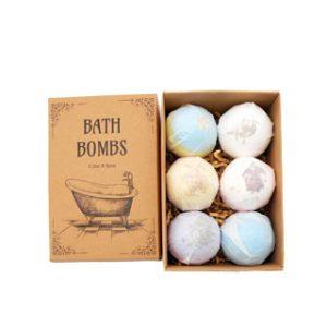 Cardboard box for bath bombs
