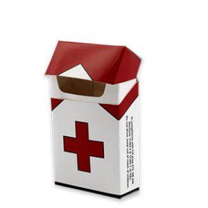 Custom cigarette box with artwork