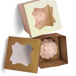 Custom white cupcake box with window