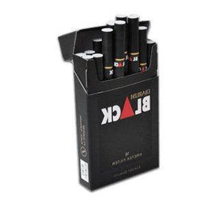 Matte black custom cigarette box