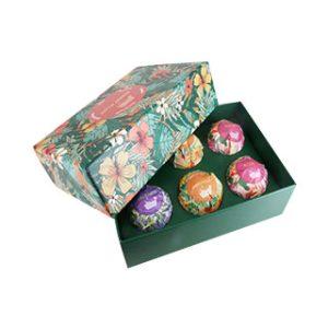 Cardboard box for bath bomb