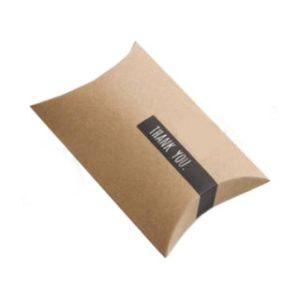 Printed kraft pillow box