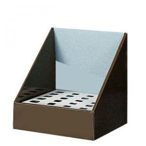Brown display box with insert