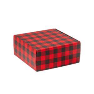 Christmas buffalo plaid boxes