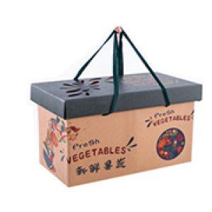 Portable fruit corrugated gift box