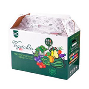 Foldable fruit and vegetable packaging box